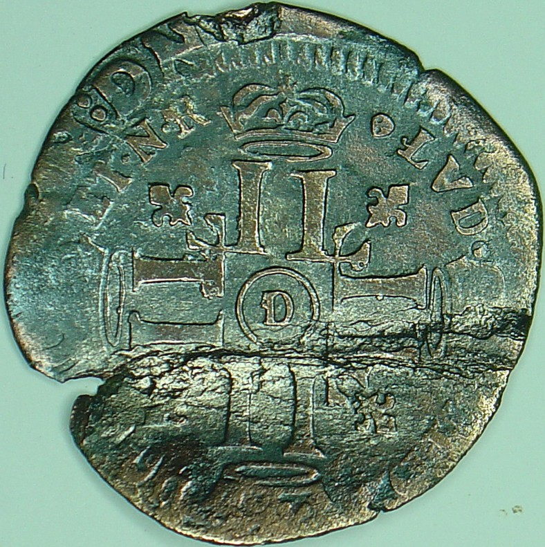 Quinzain aux huit L Louis XIV, 1694, Lyon Quinzain-aux-8l-a-425f9a6
