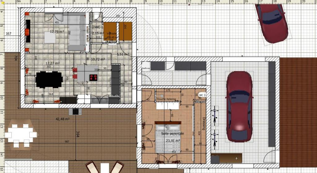 Besoin d 39 avis sur plan de maison de 90 20 m2 en r 1 76 Plan maison suite parentale rdc